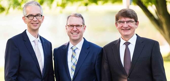 BKK-Vorstand Thomas Johannwille, Verwaltungsratsvorsitzender Martin Kewitsch und sein Stellvertreter Helmut Gettkant