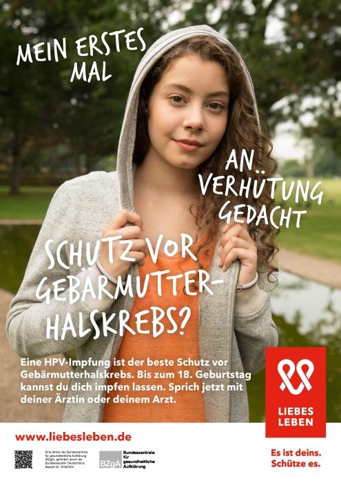 LIEBESLEBEN - Anzeige der HPV-Teilkampagne der BZgA