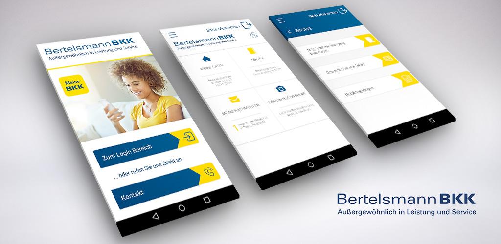 Screenshot der Bertelsmann BKK-App