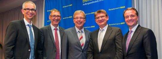 Thomas Johannwille, Michael Aust (Vorsitzender Verwaltungsrat), Wolfgang Diembeck, Helmut Gettkant (stv. Vorsitzender Verwaltungsrat), Immanuel Hermreck (Bertelsmann Personalvorstand)