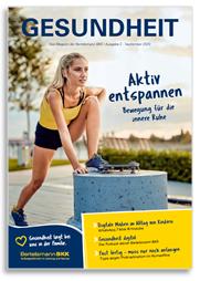 Kundenmagazin September 2020 Titelseite, Sportlerin macht Dehnübung